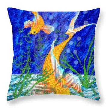 Beneath The Waves Throw Pillow