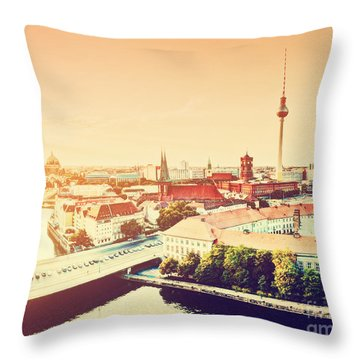 Berlin Germany View On Major Landmarks Throw Pillow