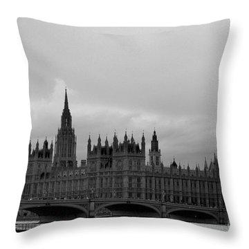Big Ben Throw Pillow by Melissa Petrey