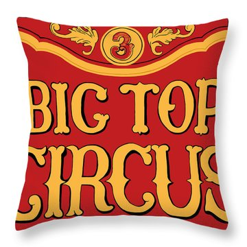 Big Top Circus Throw Pillow by Kristin Elmquist