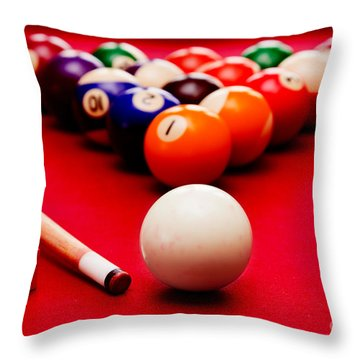 Billards Pool Game Throw Pillow