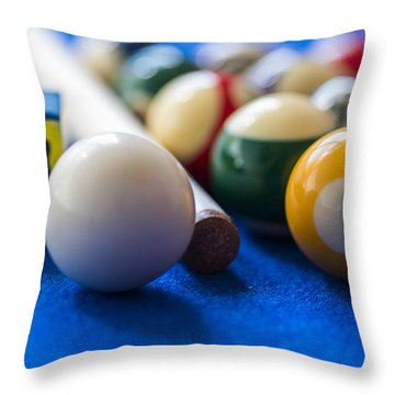 Billiard Balls Throw Pillow