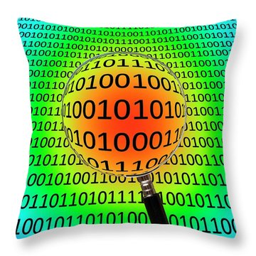 Magnification Throw Pillows