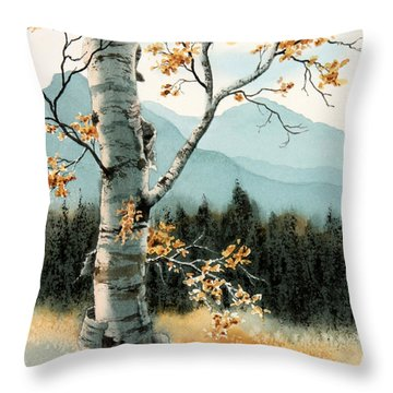Paper Birch Throw Pillow