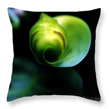Throw Pillow featuring the photograph Birth Of A Leaf by Lilliana Mendez