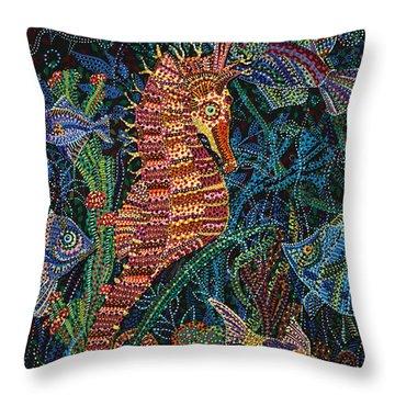 Black Sea  Throw Pillow by Erika Pochybova