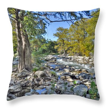 Guadalupe River Throw Pillow by Savannah Gibbs