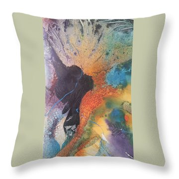 Bloom Throw Pillow by Becky Chappell