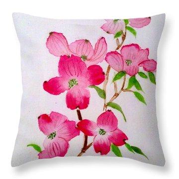 Blooming Dogwood Throw Pillow