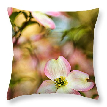Blooms Of Spring Throw Pillow by Darren Fisher