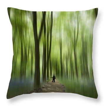Blue Bell Art Digital Art Throw Pillow