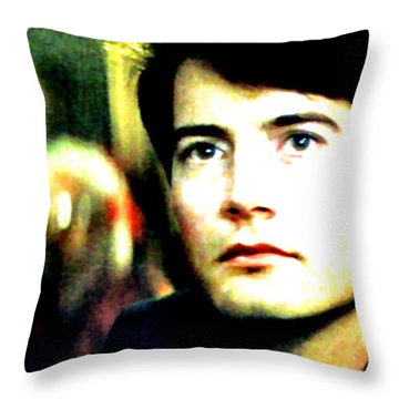 Throw Pillow featuring the painting Blue Velvet by Luis Ludzska