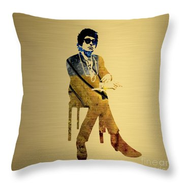 Bob Dylan Gold Series Throw Pillow
