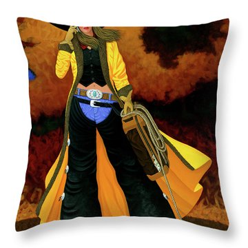 Bonnie Throw Pillow by Lance Headlee