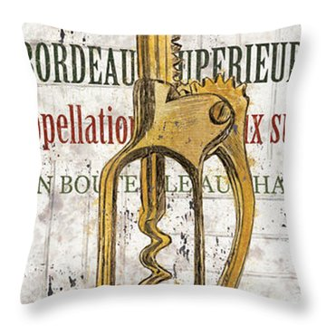Bordeaux Blanc 2 Throw Pillow by Debbie DeWitt
