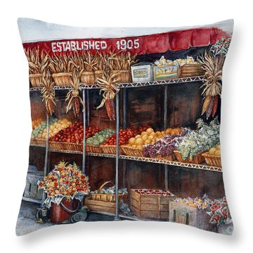 Boston Market Throw Pillow