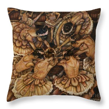 Bouquet Of Ballet    Throw Pillow by Linda Simon