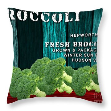 Broccoli Farm Throw Pillow