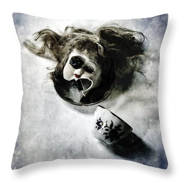 Broken Head Throw Pillow by Joana Kruse