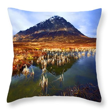 Buachaille Etive Mor Scotland Throw Pillow