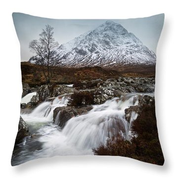 Throw Pillow featuring the photograph Buachaille Etive Mor by Stephen Taylor