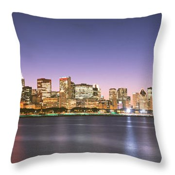 Buildings At The Waterfront, Chicago Throw Pillow