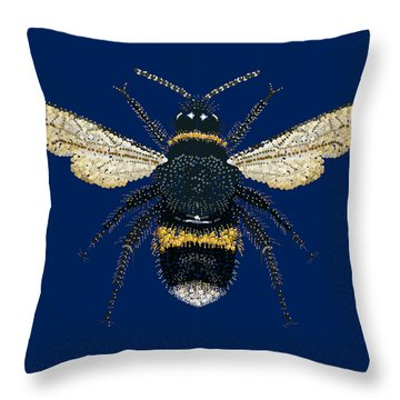 Bumblebee Bedazzled Throw Pillow