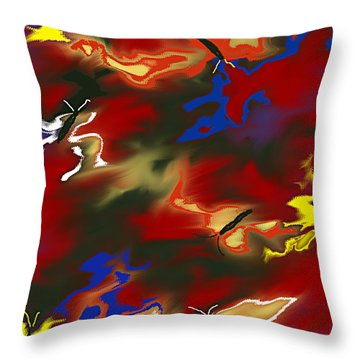 Butterflies' Dance Throw Pillow by Thomas Bryant