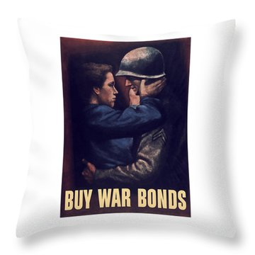 Buy War Bonds Throw Pillow by War Is Hell Store