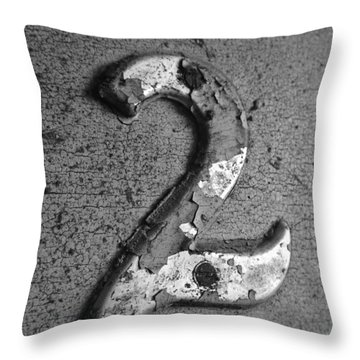 2 Bw Throw Pillow