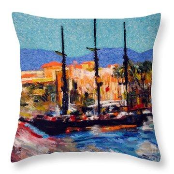 Cabo Pirate Ship Throw Pillow