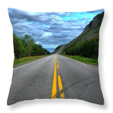 Throw Pillow featuring the photograph Cabot Trail by Joe  Ng