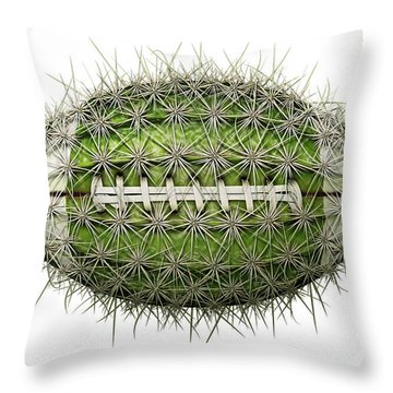 Cactus Football Throw Pillow