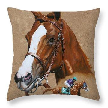 Kentucky Derby Throw Pillows