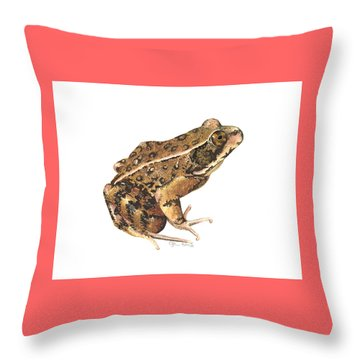 California Red-legged Frog Throw Pillow by Cindy Hitchcock