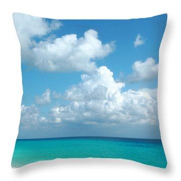 Cancun Beach Throw Pillow by Charline Xia