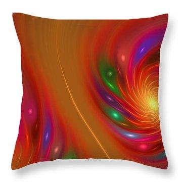 Throw Pillow featuring the digital art Candy Nebula by Hanza Turgul