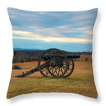 Cannons Of Manassas Battlefield Throw Pillow