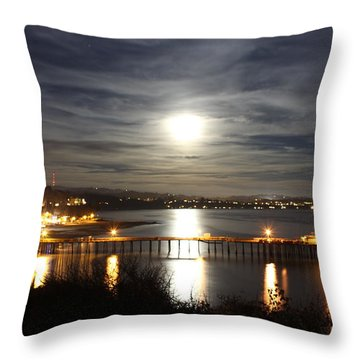Capitola Moonscape Throw Pillow