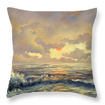 Throw Pillow featuring the painting Cappuccino Bay by Lynne Wright