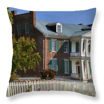 Throw Pillow featuring the photograph Carnton Plantation by Brian Jannsen