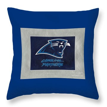Panthers  Throw Pillow by Herb Strobino