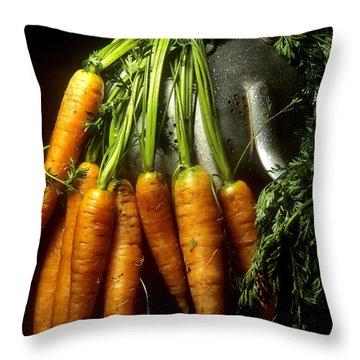 Carrots Throw Pillow by Bernard Jaubert