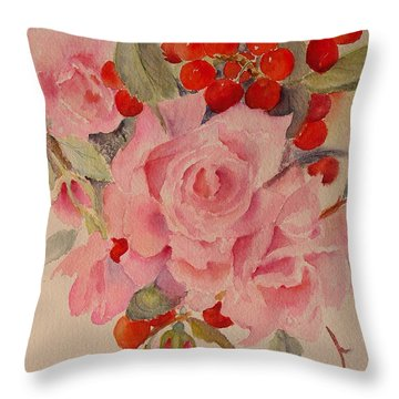 Throw Pillow featuring the painting Cascade by Beatrice Cloake