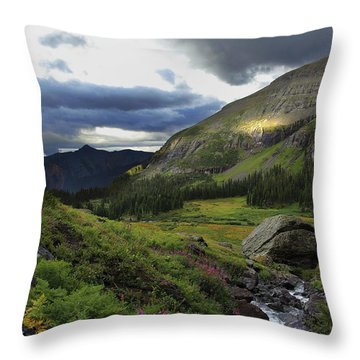 Throw Pillow featuring the photograph Cascade In Lower Ice Lake Basin by Alan Vance Ley