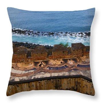 Throw Pillow featuring the photograph Castillo San Felipe Del Morro by Olga Hamilton