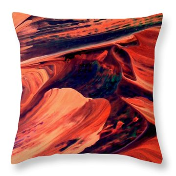 Throw Pillow featuring the painting Catalyst by Jacqueline McReynolds