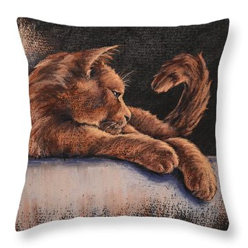 Throw Pillow featuring the painting Catching The Last Rays by Cynthia House