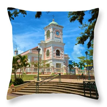 Catedral Santiago Apostol Throw Pillow