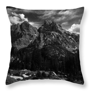 Cathedral Group From The Northwest Throw Pillow by Raymond Salani III